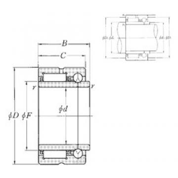 22 mm x 39 mm x 25 mm  NTN NKIB59/22R Cojinetes Complejos