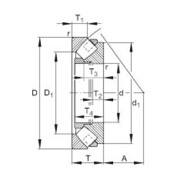 FAG 292/800-E-MB Rodamientos Axiales De Rodillos