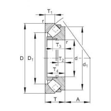 FAG 293/670-E-MB Rodamientos Axiales De Rodillos
