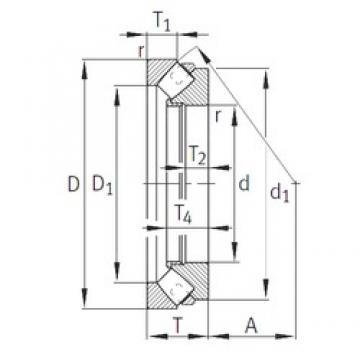 FAG 29268-E1-MB Rodamientos Axiales De Rodillos