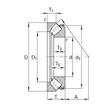 FAG 29416-E1 Rodamientos Axiales De Rodillos