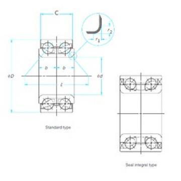 37 mm x 72,04 mm x 37 mm  CYSD DAC377204037 Cojinetes De Bola De Contacto Angular