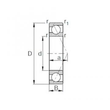 12 mm x 28 mm x 8 mm  CYSD 7001 Cojinetes De Bola De Contacto Angular