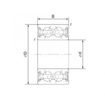 30 mm x 55 mm x 23 mm  CYSD 4606-1AC2RS Cojinetes De Bola De Contacto Angular