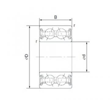 35 mm x 48 mm x 20 mm  CYSD 4606-8AC2RS Cojinetes De Bola De Contacto Angular