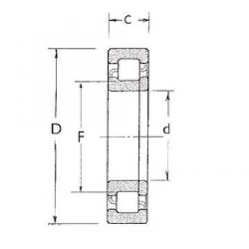 30 mm x 90 mm x 23 mm  FBJ NUP406 Rodamientos De Rodillos