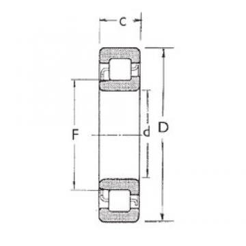 60 mm x 110 mm x 22 mm  FBJ NJ212 Rodamientos De Rodillos