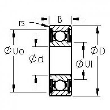 AST SR1-4ZZ Cojinetes de bolas profundas