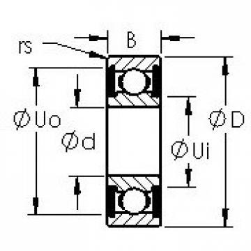 AST 6010-2RS Cojinetes de bolas profundas