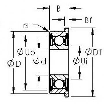 AST SFR1-5ZZ Cojinetes de bolas profundas