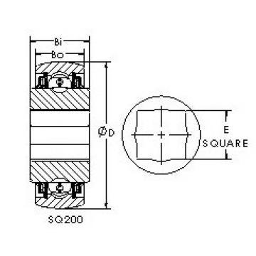 AST SQ208-014 Cojinetes de bolas profundas