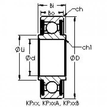 AST KP20A Cojinetes de bolas profundas