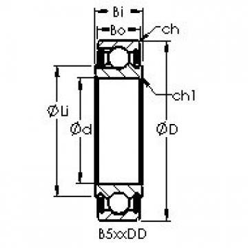 AST B542DD Cojinetes de bolas profundas