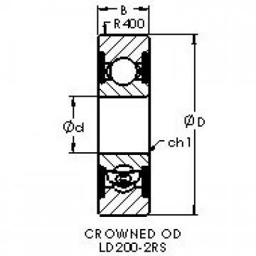 AST LD206-2RS Cojinetes de bolas profundas
