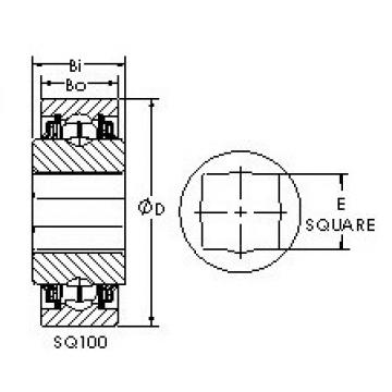 AST SQ111-108 Cojinetes de bolas profundas