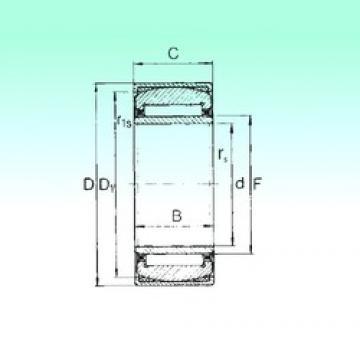 22 mm x 44 mm x 20 mm  NBS PNA 22/44 Rodamientos De Agujas