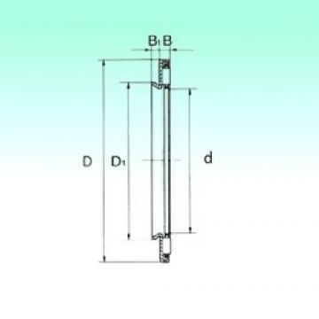 25 mm x 45 mm x 3,2 mm  NBS AXW 25 Rodamientos De Agujas