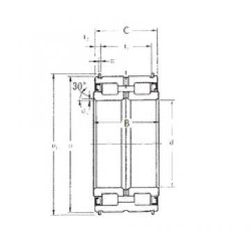 70 mm x 110 mm x 54 mm  FBJ SL04-5014NR Rodamientos De Rodillos