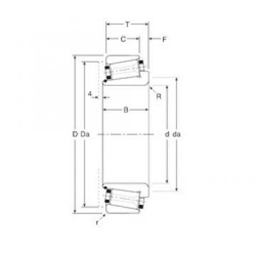 100 mm x 180 mm x 46 mm  Gamet 180100/ 180180 Rodamientos De Rodillos Cónicos