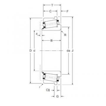 25 mm x 52 mm x 19 mm  Gamet 74025/74052C Rodamientos De Rodillos Cónicos